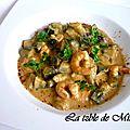 Curry de courgettes et crevettes au lait de coco