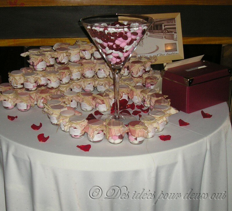 decoration mariage dragees