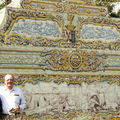Queluz-azulejos dans les jardins
