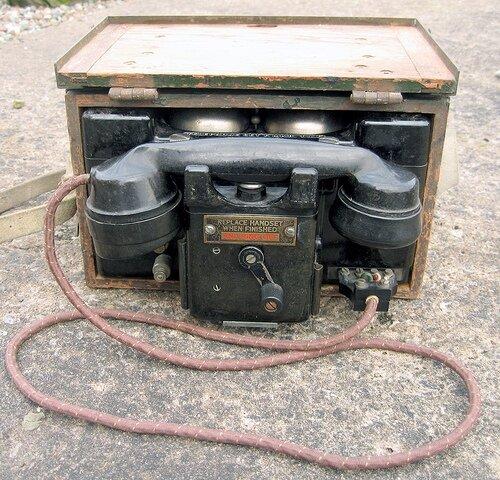 British WWII Military Telephone Type F Mk II