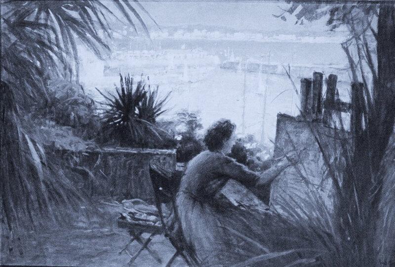 Fred MONEY - image retouchée en bleu électrique