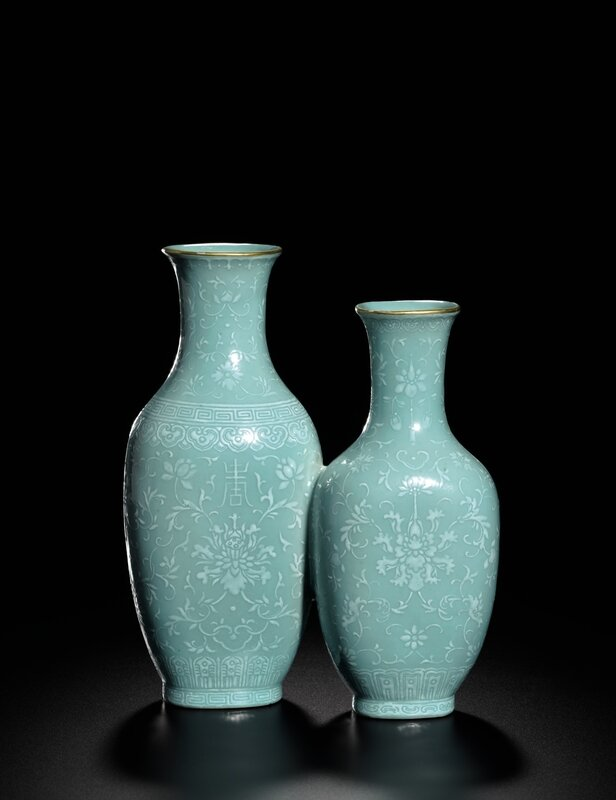 A_rare_white_enamel_turquoise_glazed_double_vase__seal_marks_and_period_of_Qianlong