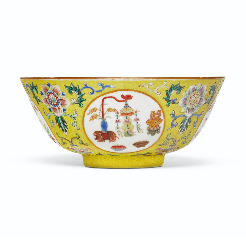 2021_NYR_19547_0820_000(a_famille_rose_yellow-ground_sgraffiato_medallion_bowl_xianfeng_six-ch022608)
