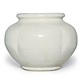 A white-glazed lobed porcelain jar, Five Dynasties-Early Northern Song dynasty, 10th-11th century