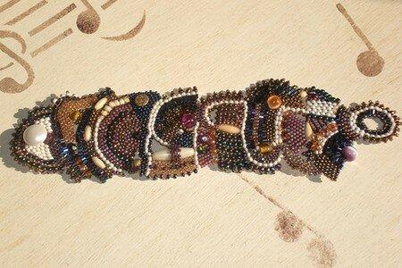 06- Bracelet Free Form en Brick Stich