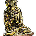 A small gilt-bronze figure of boddhisattva, qing dynasty, 18th-19th century