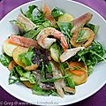 Salade de poissons fumés et salicorne