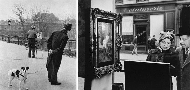 Robert-Doisneau-Le-Peintre-du-Pont-des-Arts-1953-e-Un-Regard-Oblique-1948