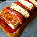 Tarte rouge: mozarella - poivron rouge - paprika