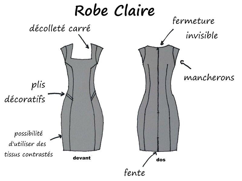 Dessin technique - Robe Claire - Boutonperdu
