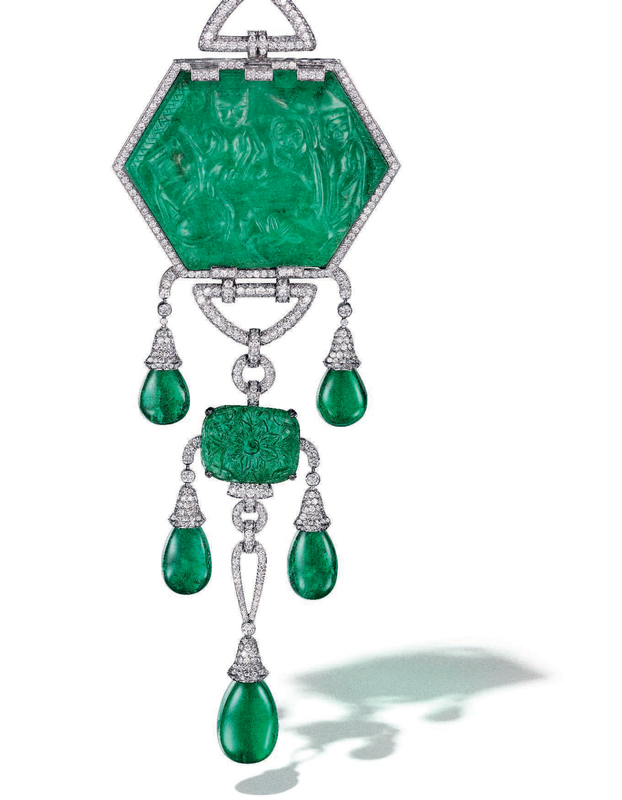 b49248bf7 ... interchangeable emerald and diamond mountings, Cartier. Estimate USD  300,000 - USD 500,000. Price realised USD 735,000. © Christie's Images Ltd  2019.