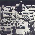 Georges Candilis, maquette pour le concours du centre de Francfort, 1963