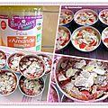 Clafoutis de fraises à la purée d'amande ( sans gluten)