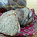 Pain brioché à la farine de châtaigne