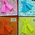 Origami et mailart