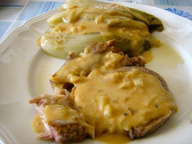Endives sauce moutarde cuisine gay - Cuisiner des cotes de porc ...