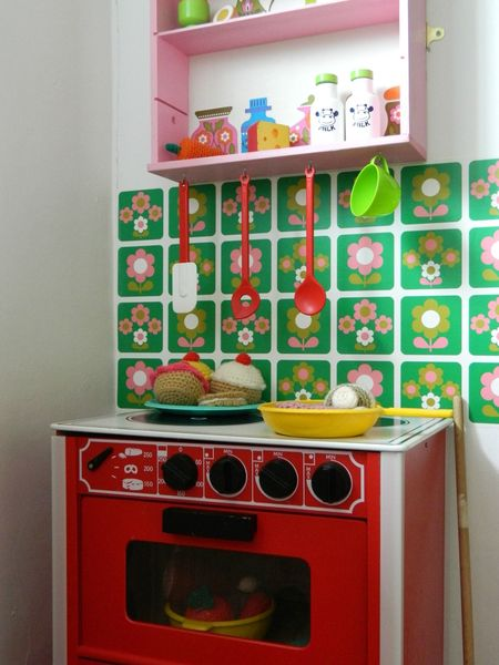 Kitchen corner and alice apple wallpaper
