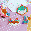 Broches en mini perles hama