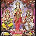 Carte porte-bonheur de lakshm