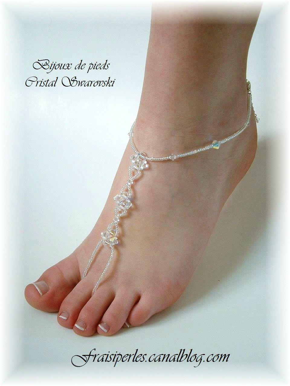 bijoux de pieds cristal
