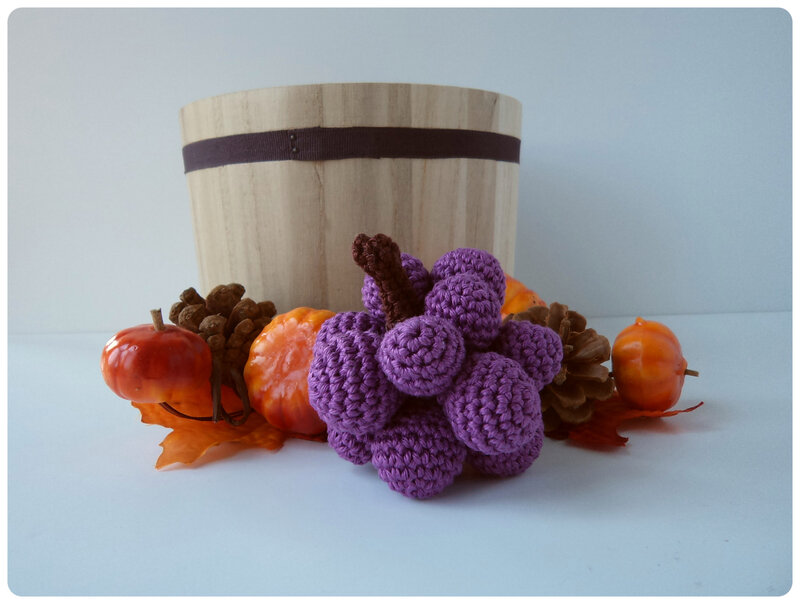 Raisin au crochet Cam&Drey bricolent