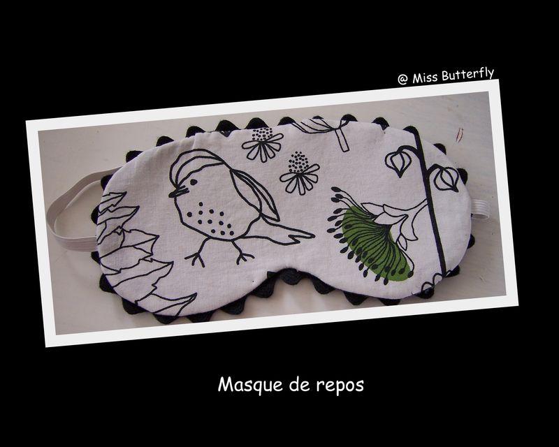 MASQUE DE REPOS (Modèle Jad Sampler )