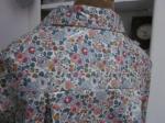 Ciré AGLAE en coton enduit Liberty Betsie fleur sur fond écru fermé par un noeud dans le même tissu (2)