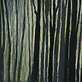 Pastel forêt de brocéliande.