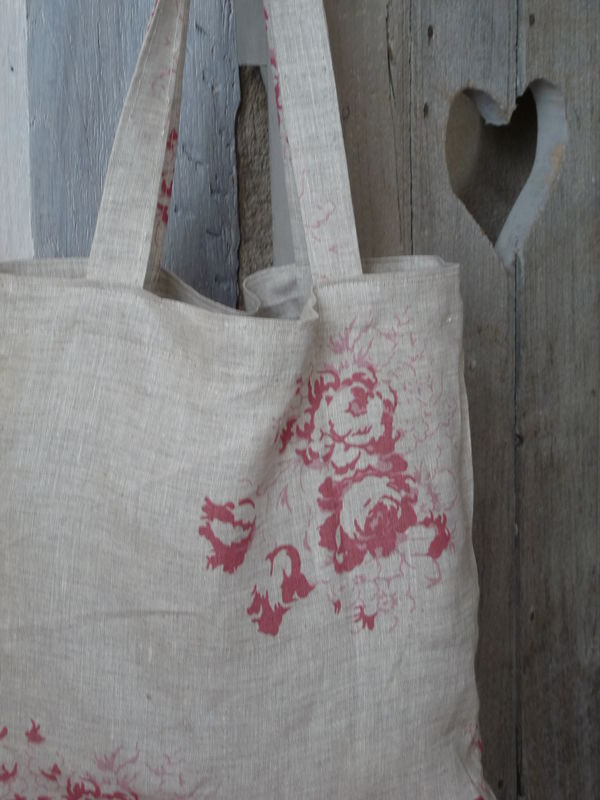 shopper bag + tissu Cabbages and Roses