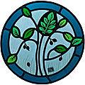 Vitrail - Arbre inspiration médiéval-clotilde gontel