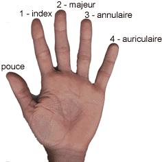 Bague doigt majeur femme