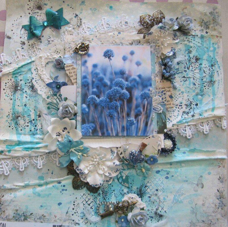 page fleurs bleues