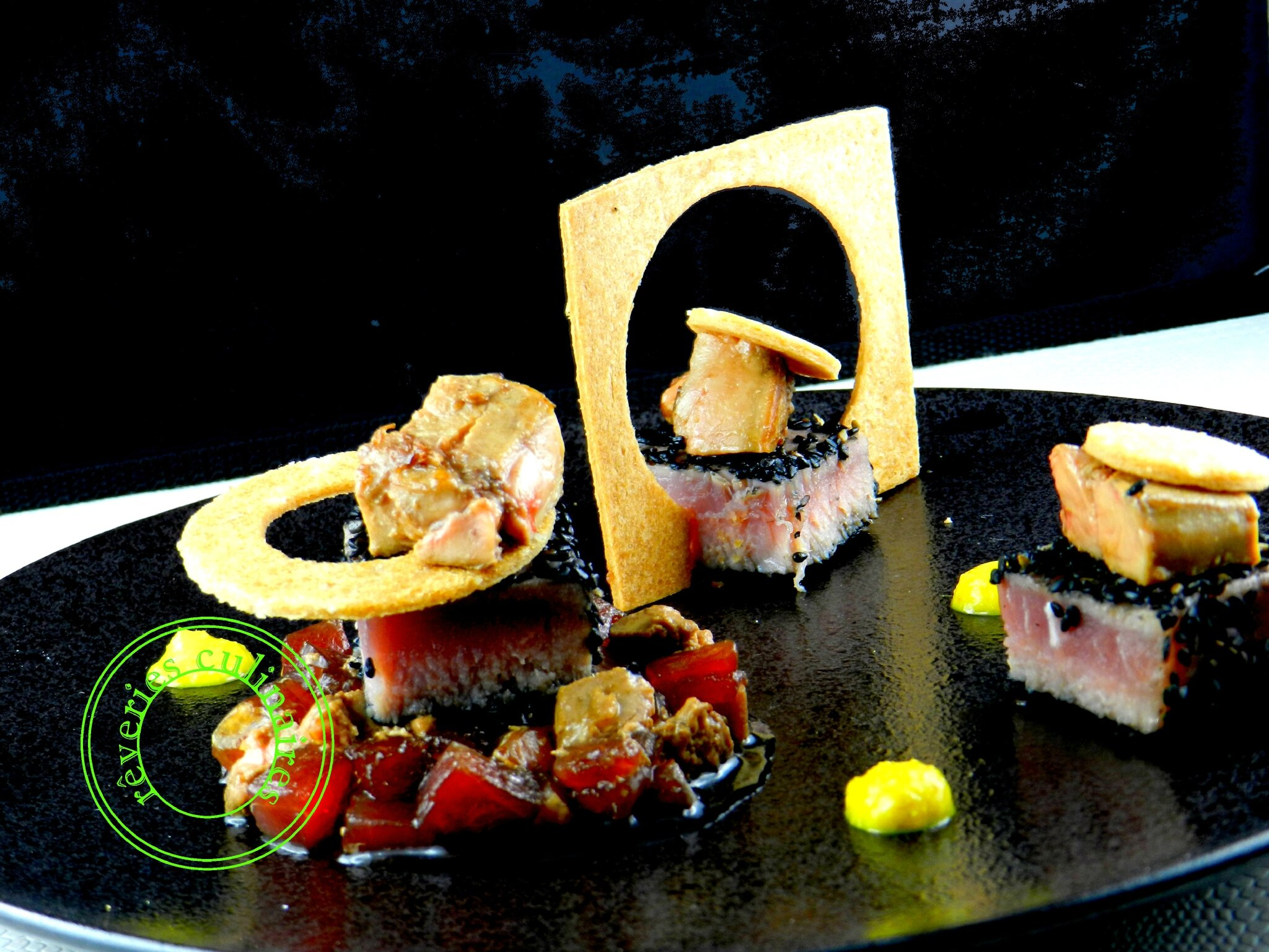 thon, foie gras et soja