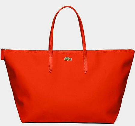 lacoste sac shopping l 12 12 orange