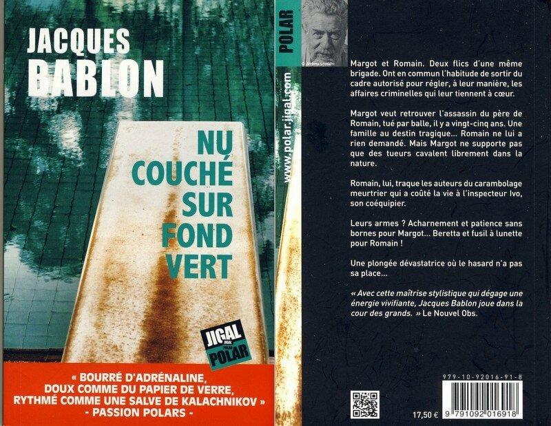 2 - Nu couché sur fond vert - Jacques Bablon