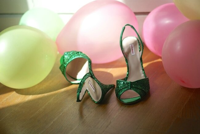 green shoes PB