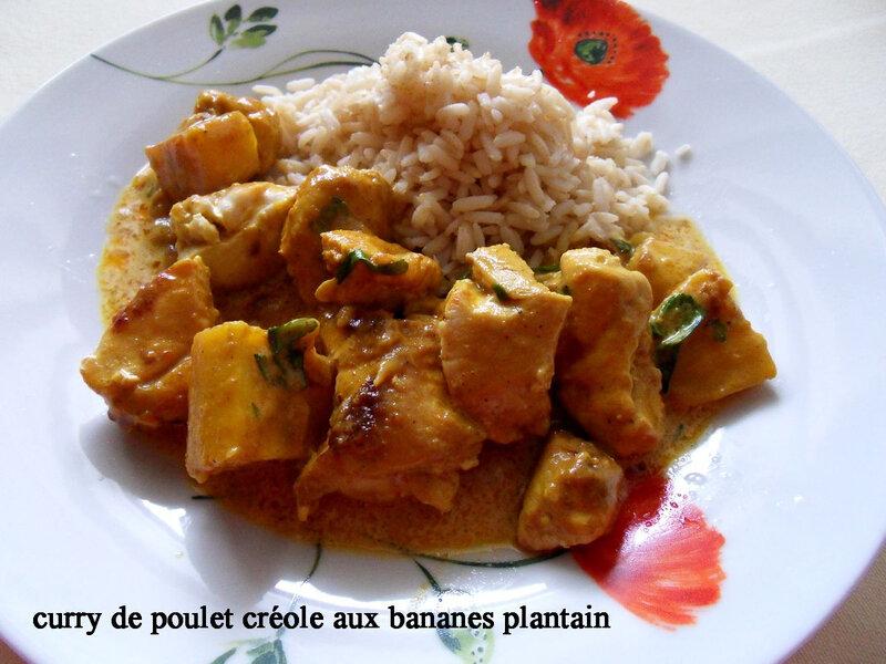 curry de poulet créole aux bananes plantain