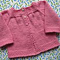 Cardigan layette très douce version rose