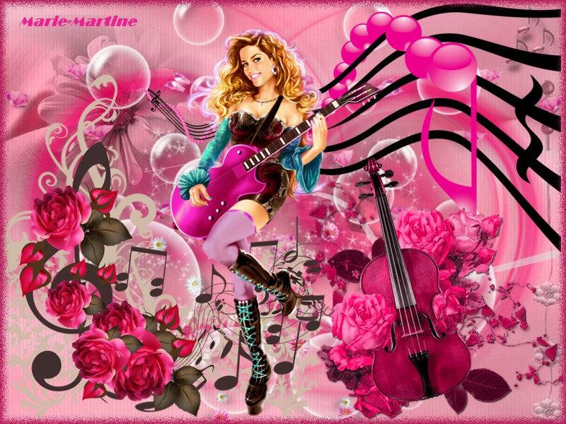 fête musique rose