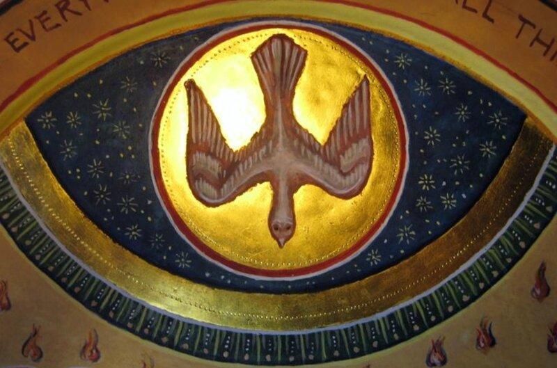 Esprit Saint, détail de la Pentecote