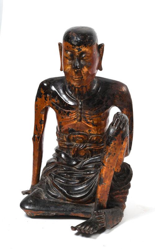 Sculpture en bois laqué doré, Vietnam, Dynastie Lê, XVIIIe siècle