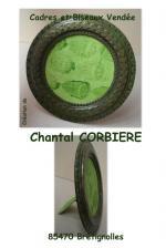 cadre vert bronze