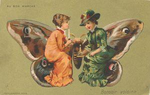 Dames et papillon vintage_0001