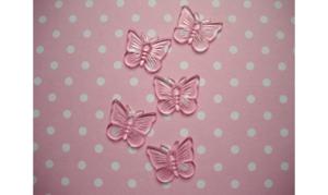 déco acrylique papillon rose