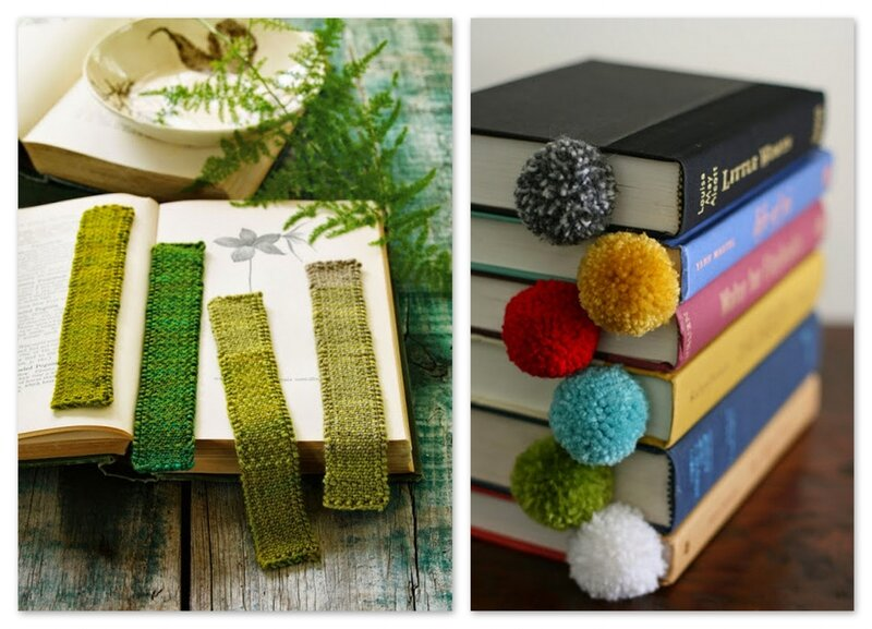 marque pages tricot