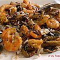 Sauté de champignons aux crevettes