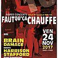 Concert faut qu'ça chauffe #10 avec brain damage meets harrison stafford (groundation) à gouville /mer vendredi 24 novembre 2017