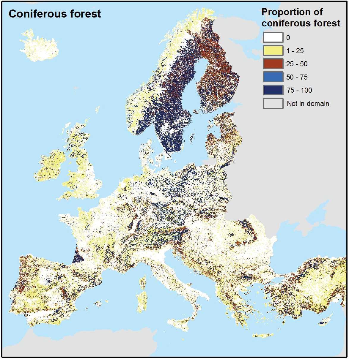 Coniferous forest of Europe