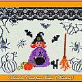 Echange ATC Chez Miou Halloween Marie de Clessé pour Tortue (Martine)