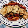 Poêlée de suprême de poulet et de légumes d'été grillés